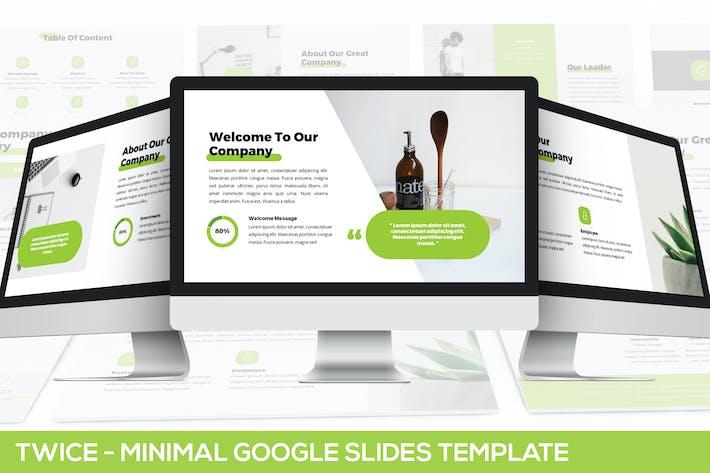 Thumbnail for Twice - Minimal & Simple Google Slides Template