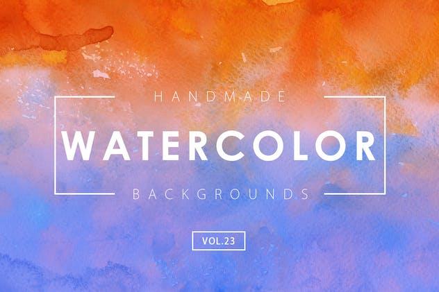 Handmade Watercolor Backgrounds Vol.23
