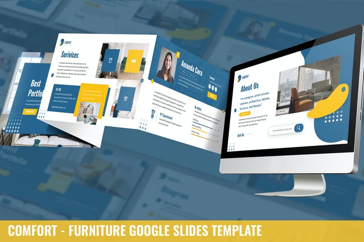 Thumbnail for Comfort - Furniture Google Slides Template