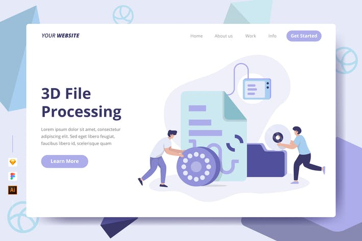 Thumbnail for 3D File Processing - Landing Page