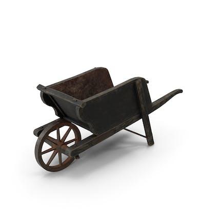 Carrilla de rueda vieja