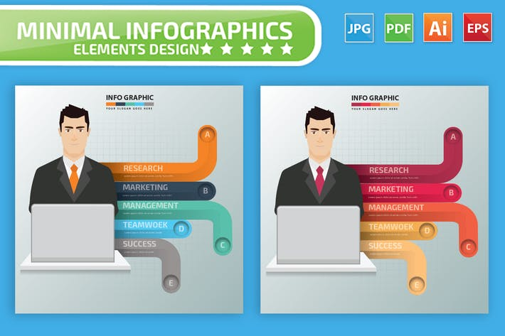 Cover Image For Businessman Infographics Design