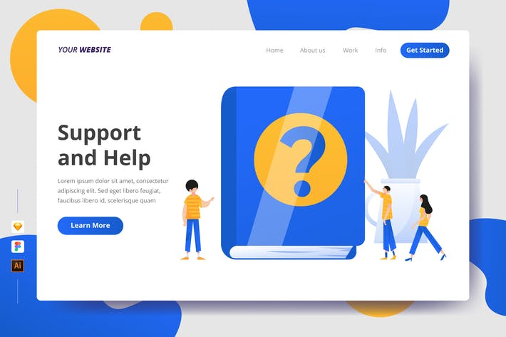 Thumbnail for Support and Help - Landing Page