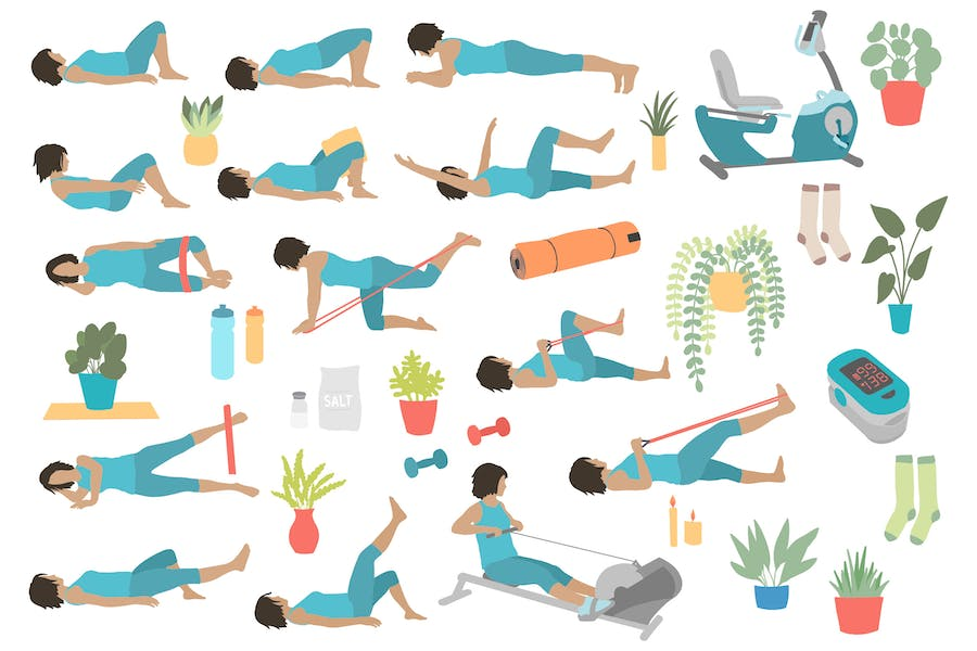 Lower Body Supine Exercise Poses