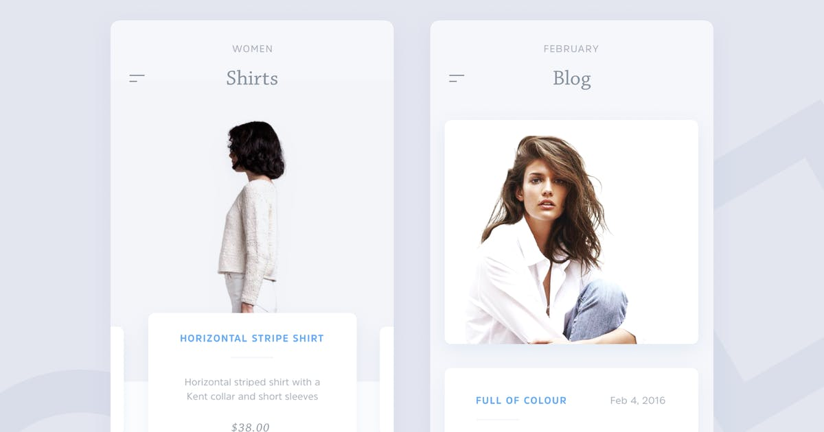 Download Ecommerce - Blog Fashion App Template by cerpow