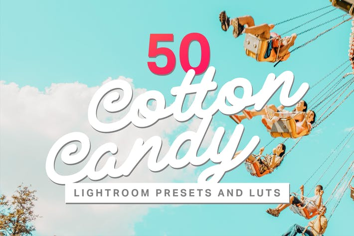 Thumbnail for 50 Cotton Candy Lightroom Presets and LUTs