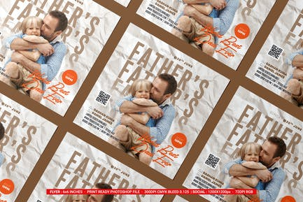 Fathers Day Flyer & Social Media