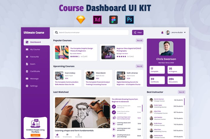 Cover Image For Nuzie - Course Dashboard Template