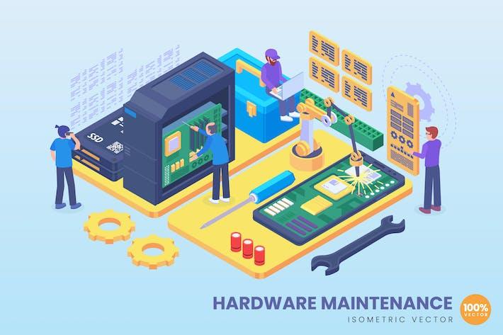 Thumbnail for Isometric Hardware Maintenance Concept