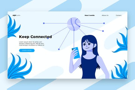 Connected - Banner & Landing Page