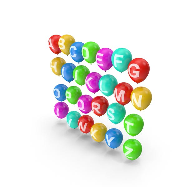 Алфавит на воздушных шарах