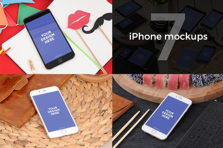 Thumbnail for 7 iPhone Photo Mockups