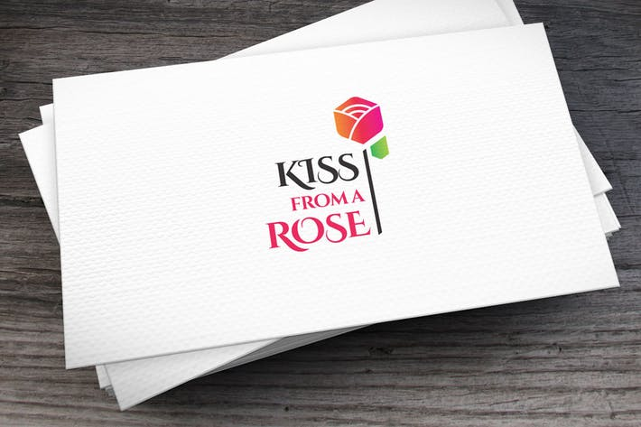 Thumbnail for Kiss Rose Logo Template