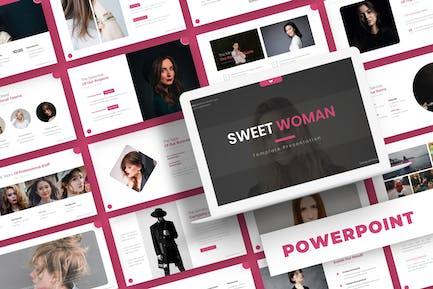 Сладкая женщина - Шаблон Powerpoint