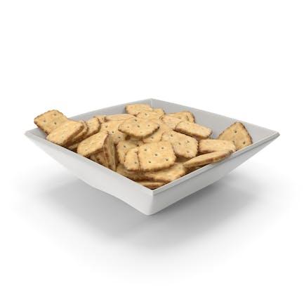 Square Bowl with Mini Rhombus Crackers