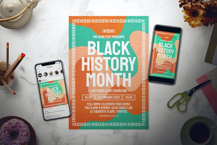 Thumbnail for Black History Month Flyer Set