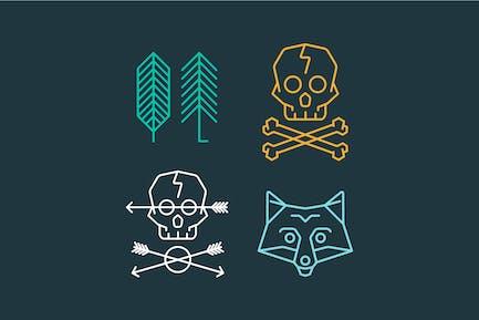 Vektor -Set von coolen Logo Vorlagen auf Hintergrund. R