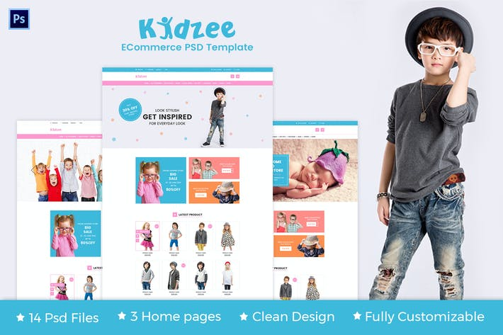 Thumbnail for KIDZEE - eCommerce PSD Template