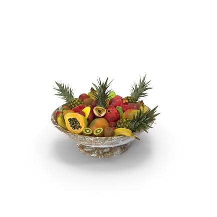 Marble Bowl Exotic Fruits