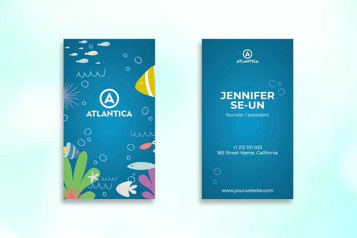 Thumbnail for Scuba Business Card Design