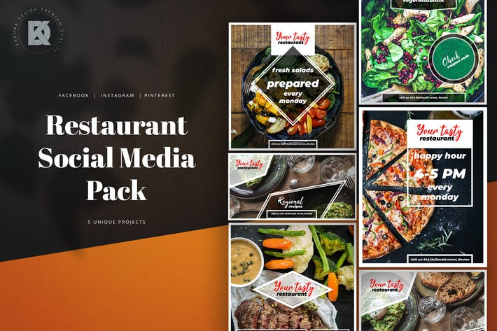 Thumbnail for Restaurant Social Media Kit