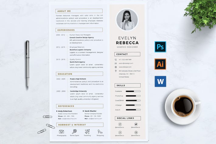 Minimalist CV Resume Vol. 03