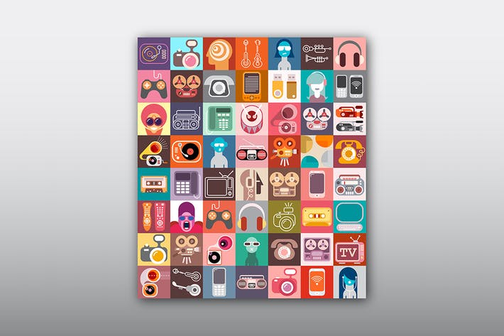 Thumbnail for Electronic Device Vector Icon Set