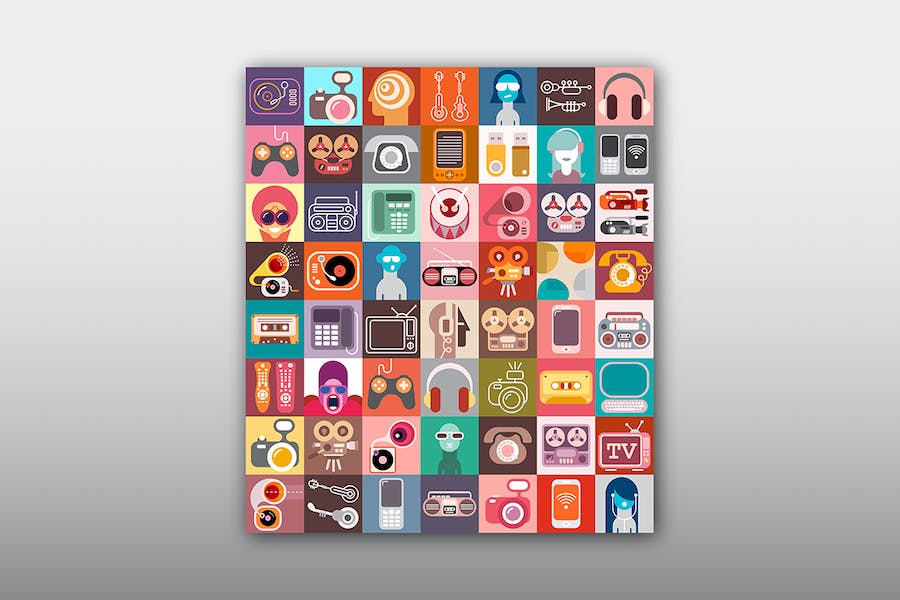 Electronic Device Vector Icon Set