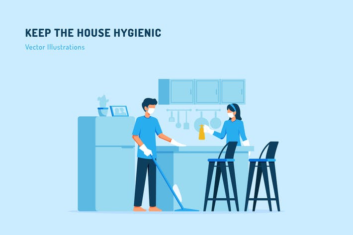 Thumbnail for Keep The House Hygienic Vector Illustration