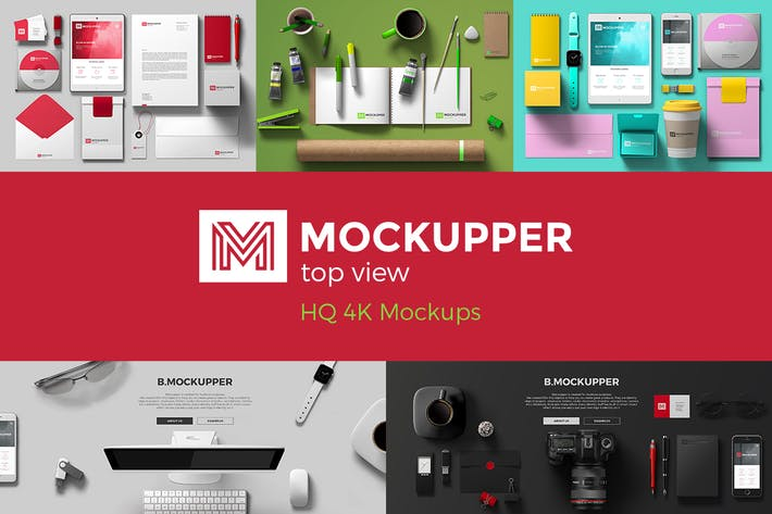 Thumbnail for Mockupper: Top View 4K Mock-ups
