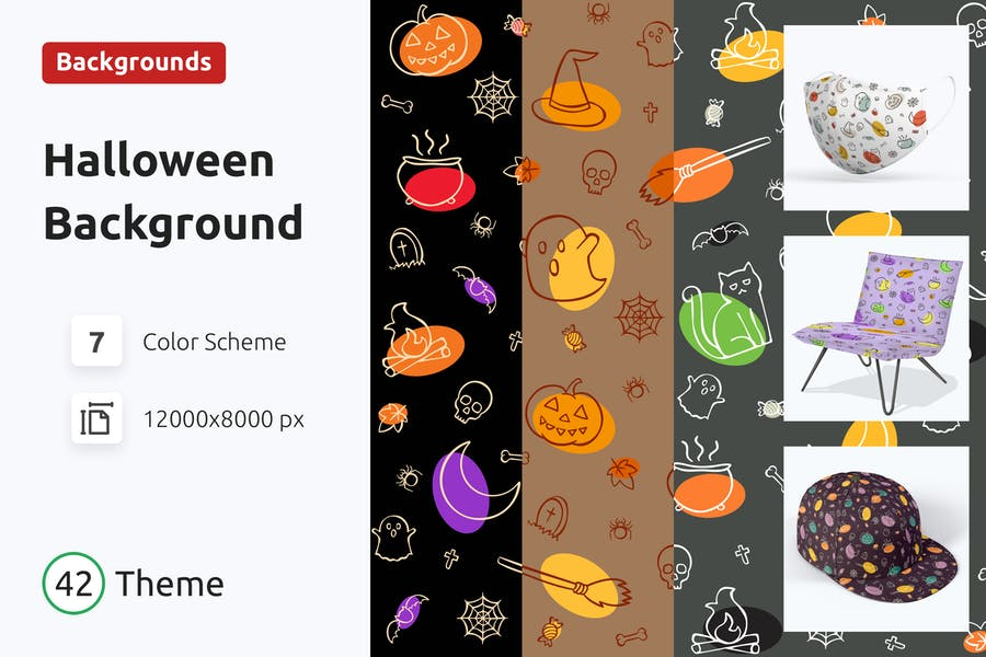Nahtloses Halloween Muster