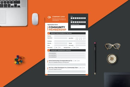 Join Membership Form Template