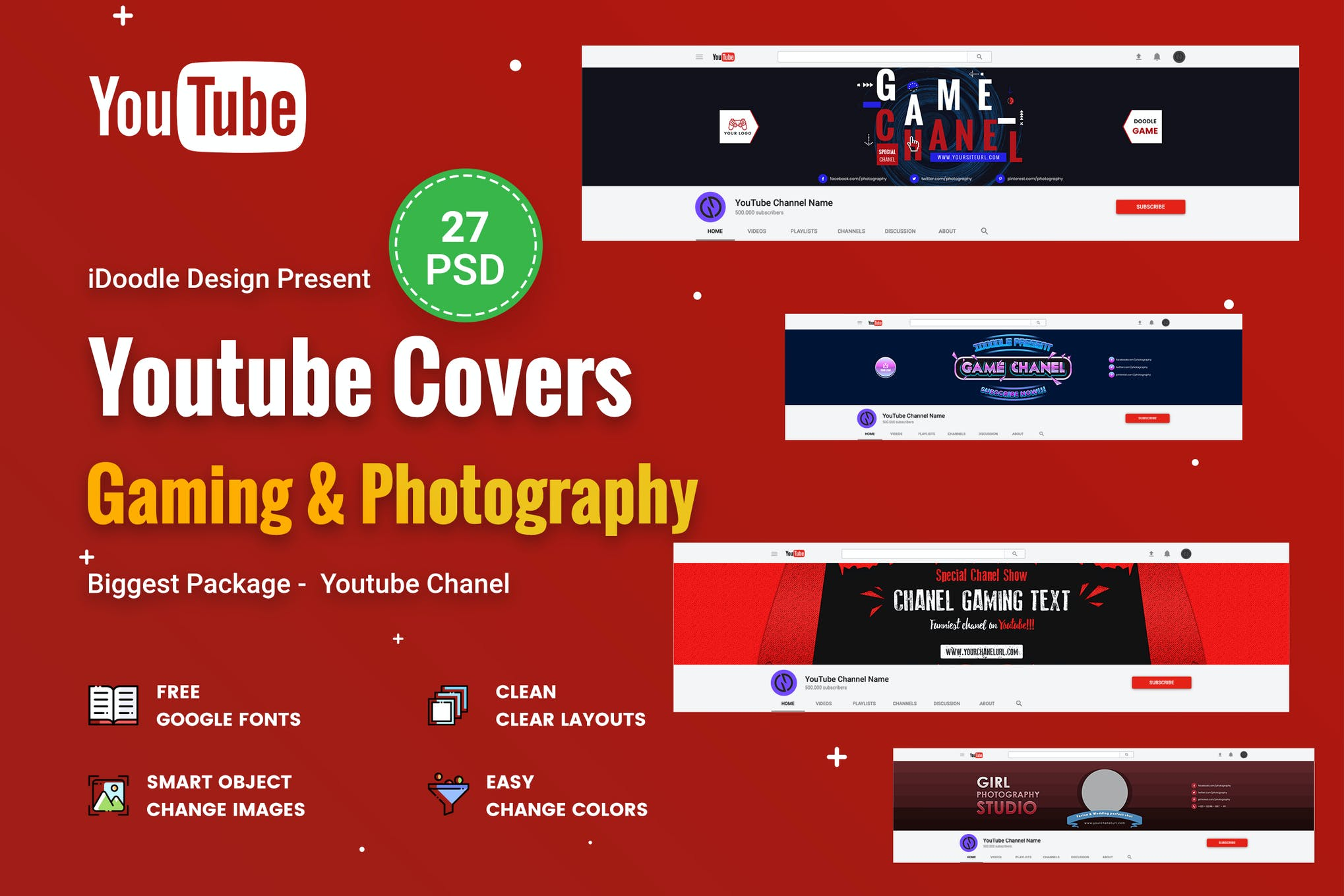 youtube cover psd promotion youtube covers - psdidoodle on envato elements