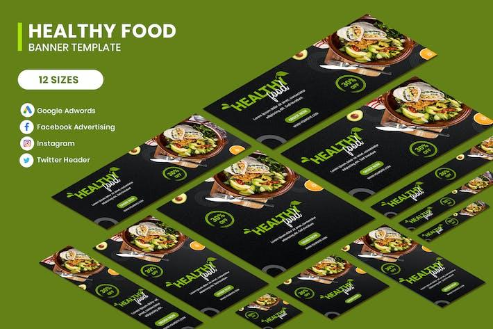 Thumbnail for Gesunde Lebensmittel Google Adwords Banner Vorlage