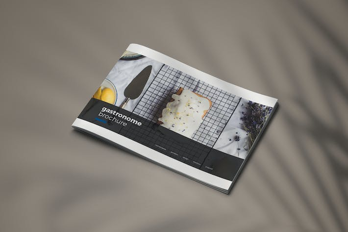 Thumbnail for Gastronome - A4 Horizontal Brochure Template