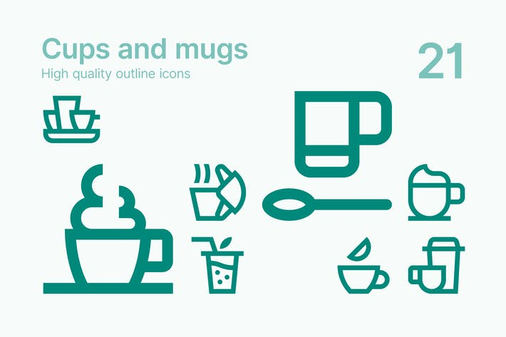 Thumbnail for Cups and Mugs Icons
