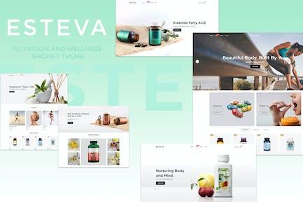 Esteva - Питание и здоровье Shopify Тема