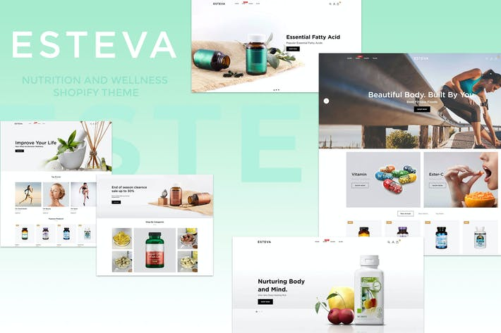 Thumbnail for Esteva - Nutrition and Wellness Shopify Theme