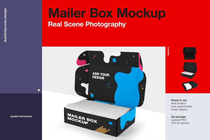 Thumbnail for Craft Mailer Box Mockup