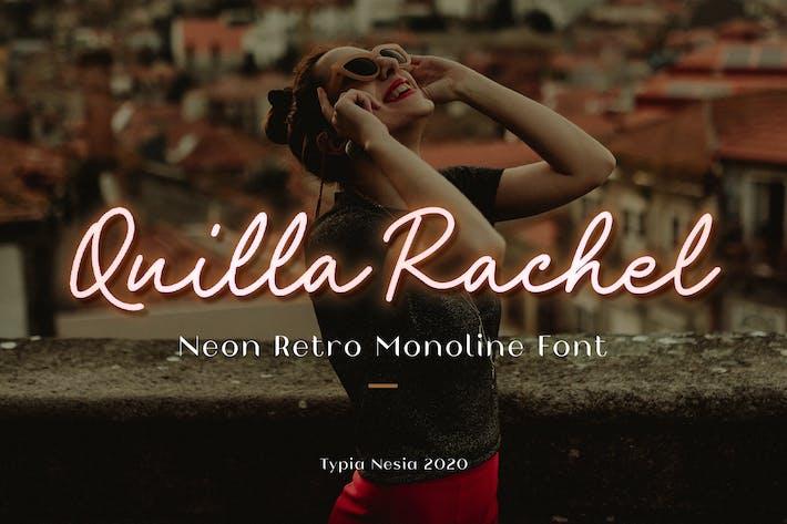 Guión de neón Quilla Rachel