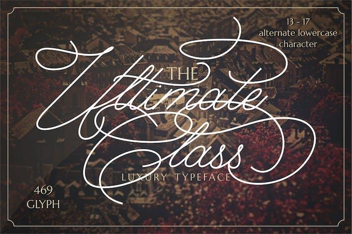 Thumbnail for Ultimate Class - Elegant Stylish Script Font