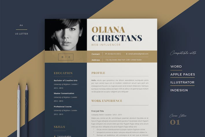 Cover Image For Resume Template / Cv / Cover