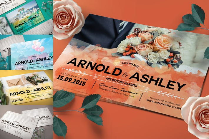 Thumbnail for Aquarell Hochzeitseinladung