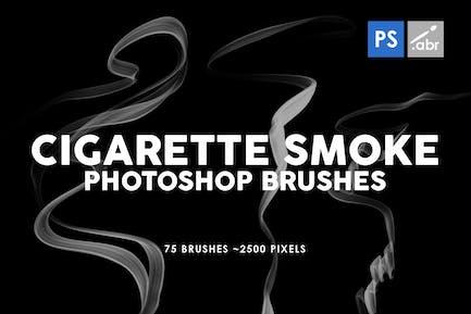 75 Cigarette Smoke Photoshop Stamp Brushes