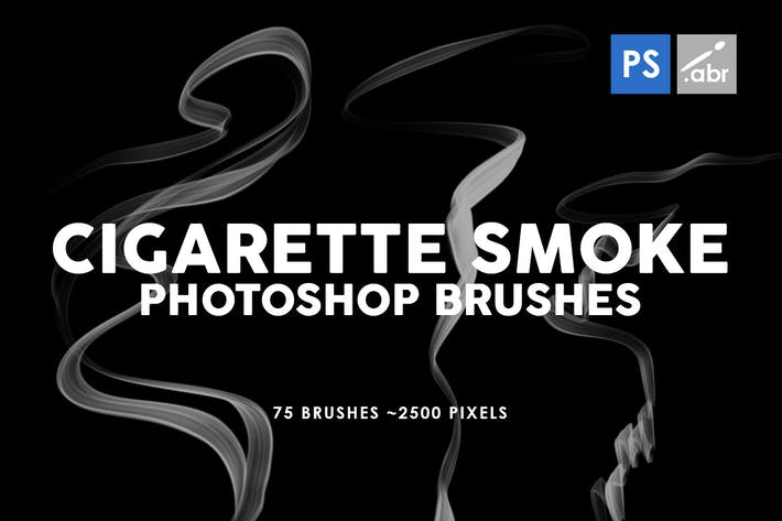 Thumbnail for 75 Cigarette Smoke Photoshop Stamp Brushes