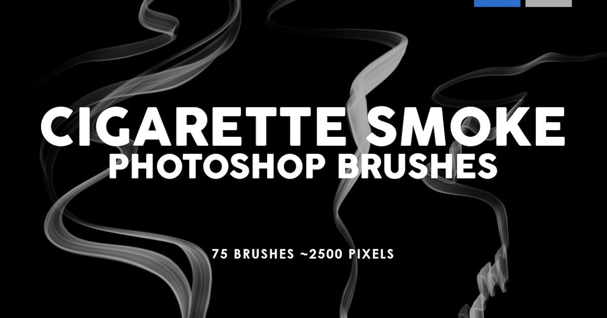 Download 75 Cigarette Smoke Photoshop Stamp Brushes by M-e-f