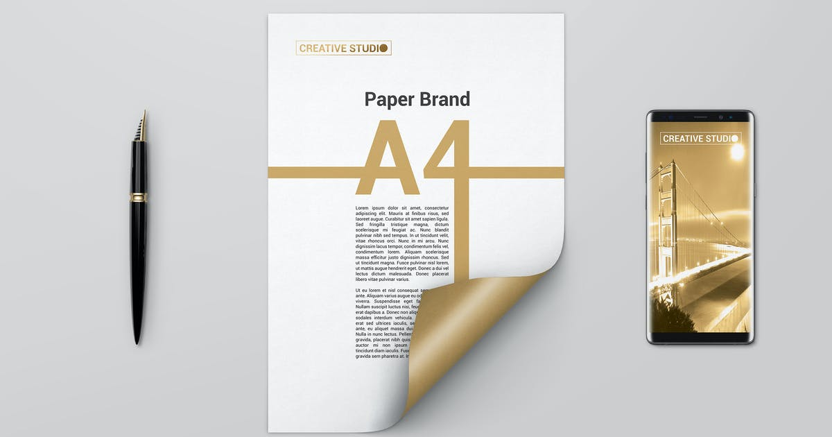 Download A4 Curled Paper Mockups by StreetD