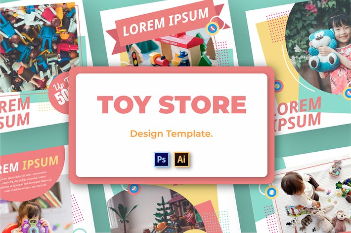 Thumbnail for Toy Dolore Social Media Template