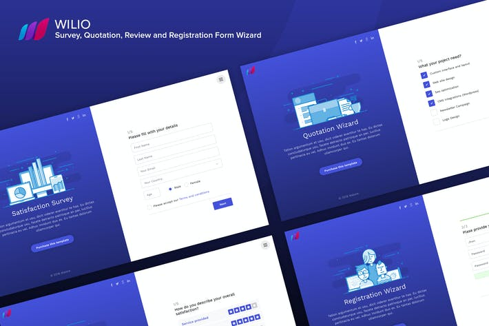 Thumbnail for Wilio - Survey and Multipurpose Form Wizard