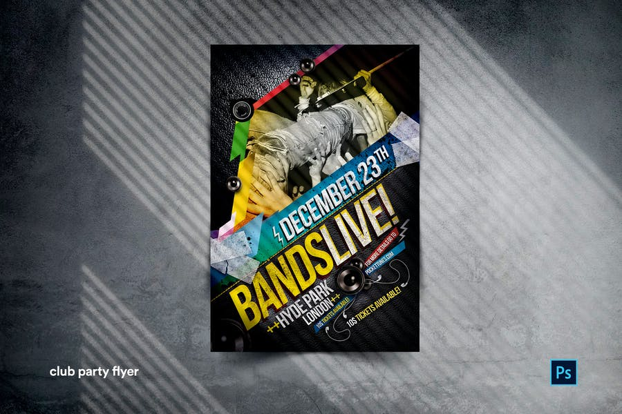 Rock Band Party Flyer